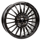 "Axxion AX5 Glossy black with full machined lip 18""(11563)"