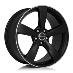 "Avus AF10 MATT BLACK POLISHED 17""(A10075175110040731T0)"