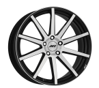 "AEZ Straight Black/polished 17""(AST72BP35)"