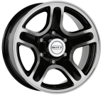 "DOTZ 4X4 Hammada dark Black/polished 15""(OHM5DBP00)"