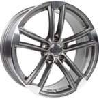 "Wheelworld Wh27 Daytona Grey Full Machined DAYTONA GREY FULL MACHINED 18""(EW326167)"