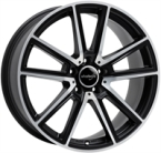 "Wheelworld Wh30 Black Matt Full Machined MATT BLACK & POLISHED 17""(EW325321)"