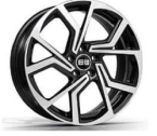 "ELITE Wheels Cyclone sort/poleret 18""(EC14566)"