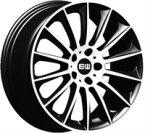"ELITE Wheels Wild Beauty sort/poleret 18""(EC14577)"