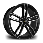 "LMR RAVE BLACK POLISHED 20""(RAVE2095X12045651BP-v1)"