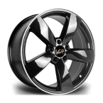 "LMR TIAGO BLACK POLISHED 18""(TIAGO1885X11245666BP-v1)"