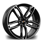"LMR ZEUS BLACK POLISHED 18""(ZEUS1885X11235666BP-v1)"