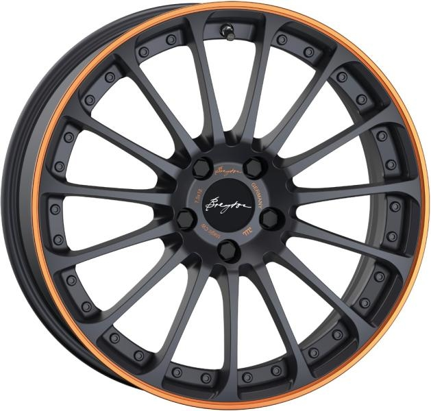 Breyton Magic CW Matt Grey with Orange Anodized Lip 18""