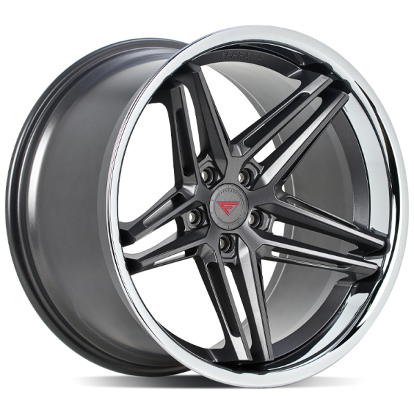 Ferrada CM1 Matte Graphite/Chrome Lip 20""
