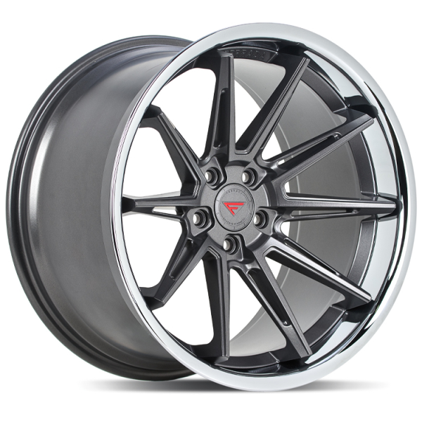 Ferrada CM2 Matte Graphite/Chrome Lip 20""