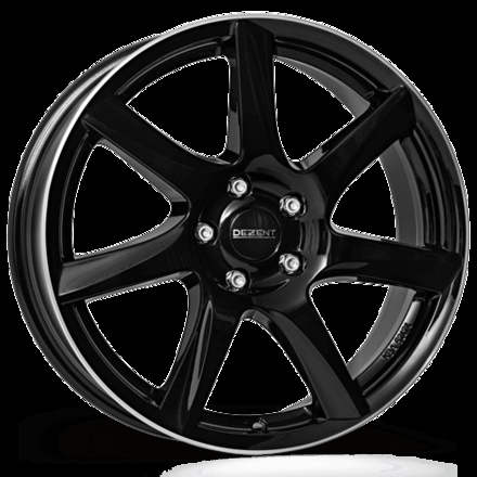 Dezent TW dark Black/polished lip 15""