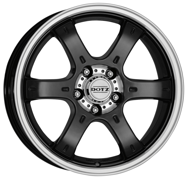 DOTZ 4X4 Crunch Black/polished 16""