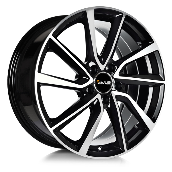 Avus AC-518 BLACK POLISHED 15""