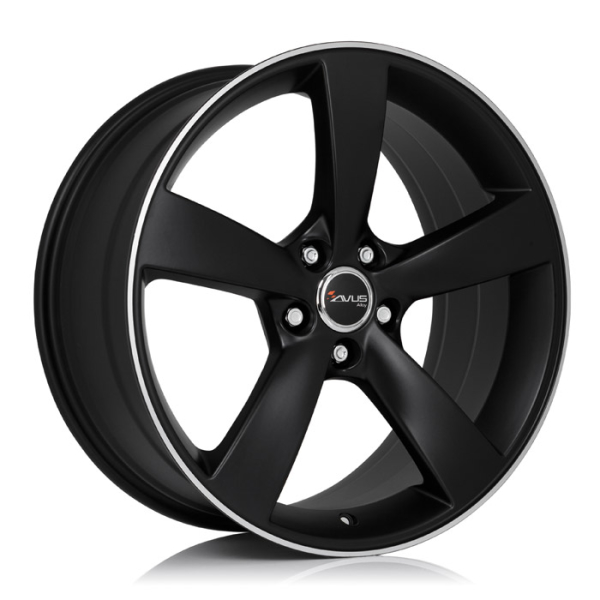 Avus AF10 MATT BLACK POLISHED 17""