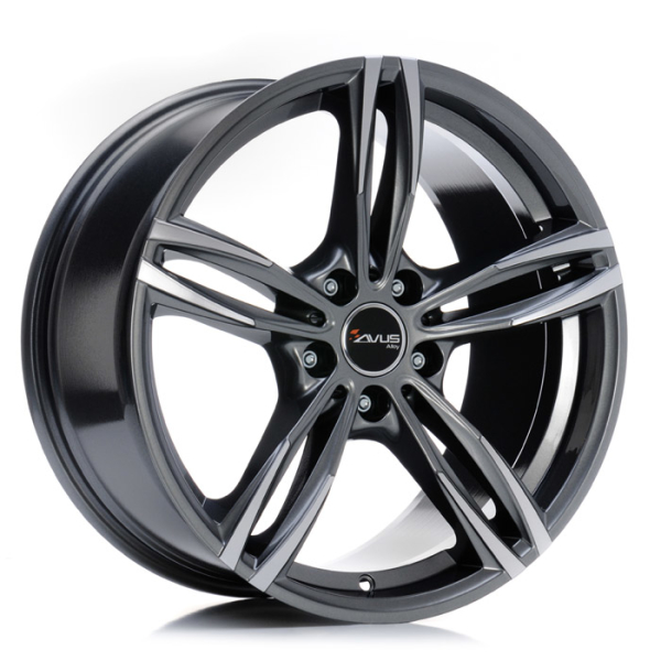 Avus AF15 ANTHRACITE POLISHED 17""