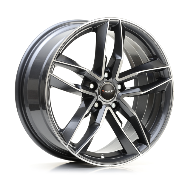 Avus AF16 ANTHRACITE POLISHED 17""