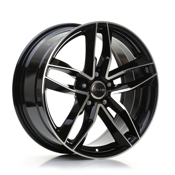 Avus AF16 BLACK POLISHED 17""