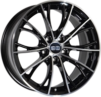 ELITE Wheels Light sort/poleret 19""
