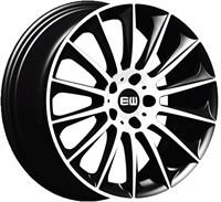 ELITE Wheels Wild Beauty sort/poleret 18""