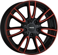 MAK Mak Jackie Anodized Red Black ANODIZED RED BLACK 15""