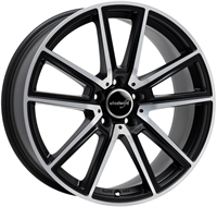 Wheelworld Wh30 Black Matt Full Machined MATT BLACK & POLISHED 17""