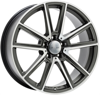 Wheelworld Wh30 Daytona Grey Full Machined DAYTONA GREY FULL MACHINED 17""