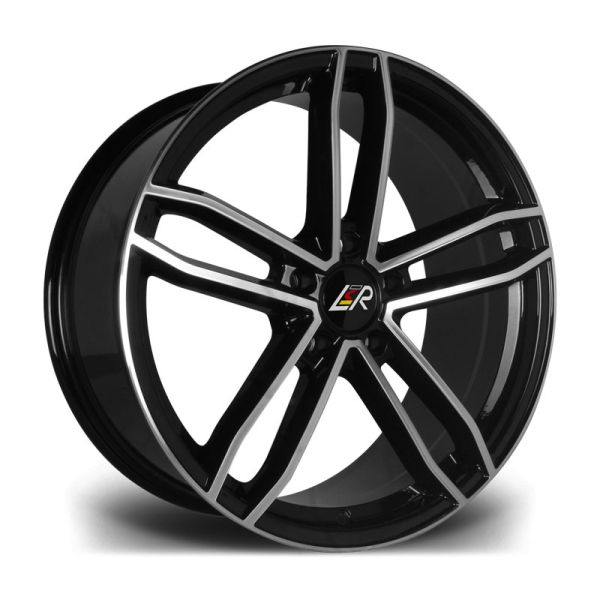 LMR RAVE BLACK POLISHED 20""