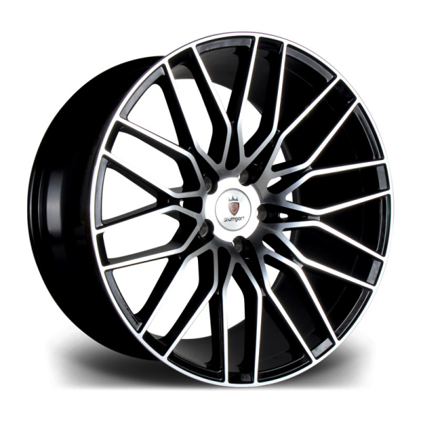Stuttgart ST8 BLACK POLISHED 19""