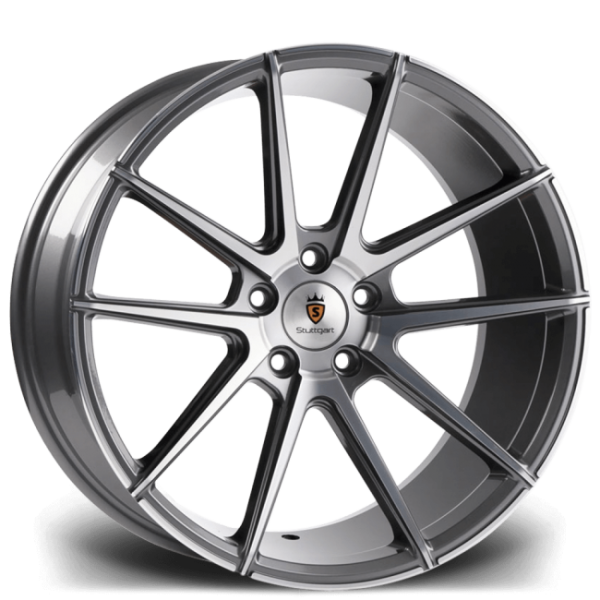 Stuttgart ST9 GUNMETAL POLISHED 19""