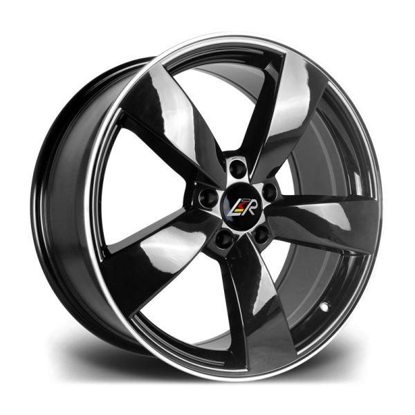 LMR TIAGO BLACK POLISHED 18""